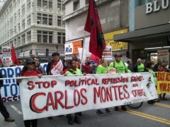 Contingent in May 1 march demands &#039;drop the charges against Carlos Montes.&#039;